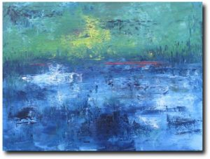 abstract groen en blauw Philippe Waldack
