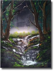 Waterval, 40x50, olieverf