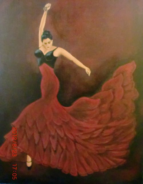 flamenco-danseres-olieverf
